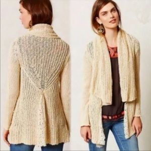 Anthropologie Knitted & Knotted Open Cardigan